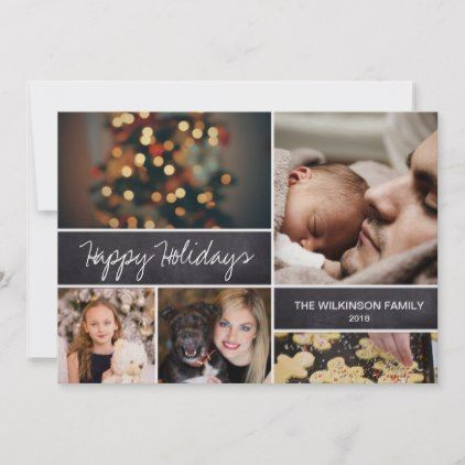 2021 Happy Holidays Family Photo Collage Holiday Card Zazzle Com Happy Holidays Photo Family Holiday Photo Cards Holiday Photo Cards