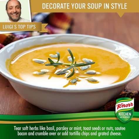 Here's Luigi's top tips for making your winter soups extra tasty. Which ingredients do you like to add to your soups?