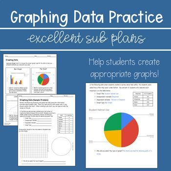 Graphing Data Practice Excellent Sub Plan With Images Middle