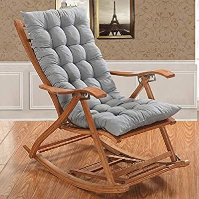 Amazon Com Chong Rocking Chair Cushions And Pads Lounger Cushion High Backed Cushion Thick Large Soft R In 2020 Rocking Chair Cushions Cushions On Sofa Rocking Chair