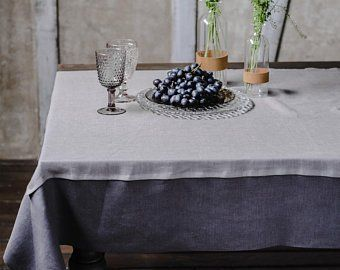 Grey Linen Tablecloth Rectangle Fitted Table Cover Charcoal Light Grey Square Table Cloth Rustic Moder Custom Table Cloth Unique Tables Dining Room Table Decor