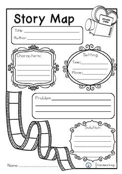 This is a very useful tool for your students to help them identify the important parts of a story. Includes 2 graphic organizer story maps: identify the Problem and Solution of the story. To identify the Beginning, Middle, and End of the story. Book Review Template, Book Report Templates, Story Map Template, Writing Template, Writing Lessons, Writing Activities, English Writing Skills, Story Maps, Reading Strategies