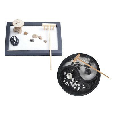2pcs Zen Garden Set Tray Sand Pebbles Rake Home Room Ornaments Collectable Fashion Home Garden Homedcor Other In 2020 Meditation Decor Zen Garden Mini Zen Garden