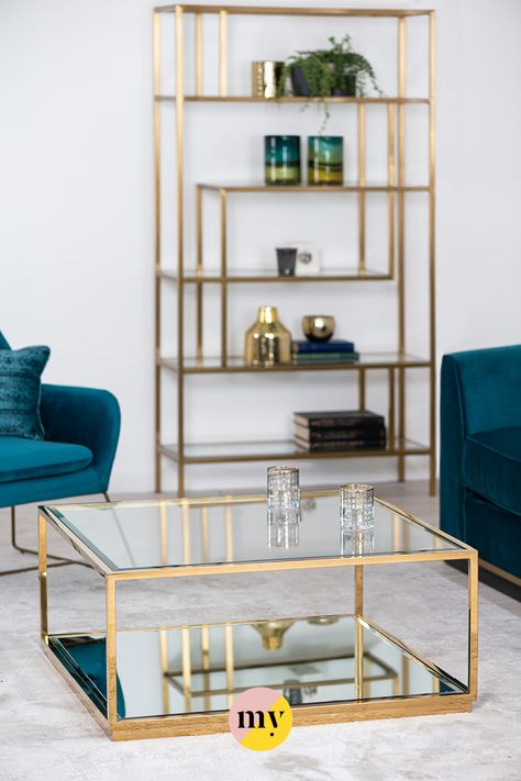 Rippon Brass Square Coffee Table