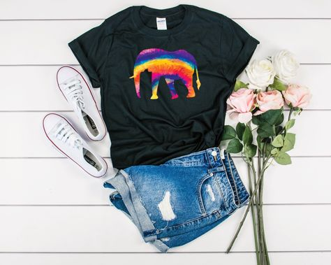 Tie Dye Elephant Shirt - Elephant Tshirt - Elephant Shirt Girl - Elephant Tank Top - Elephant Shirt Women - I Love Elephants - Elephant Gift  BestTeesAT offers quality t-shirts for all occasions. Each shirt comes in different sizes, colors, and styles including unisex shirts, women's shirts, kids shirts, tank tops, sweatshirts and hoodies. Our high quality apparel is comfortable and perfect for you to make a statement. Please see the images for the different products and colors offered.  UNISEX