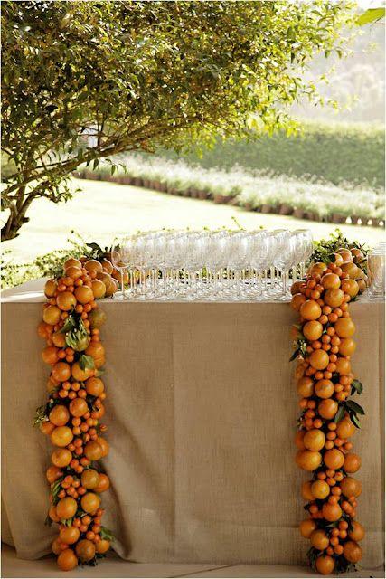 orange garlands - gorgeous!
