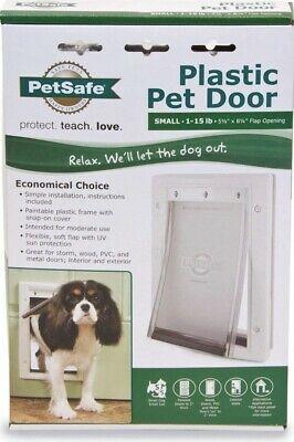 Details About Petsafe Plastic Pet Door Small 1 15lb 5 1 8 X 8 1 4 Flap Opening New Pet Door Pet Barrier Pets