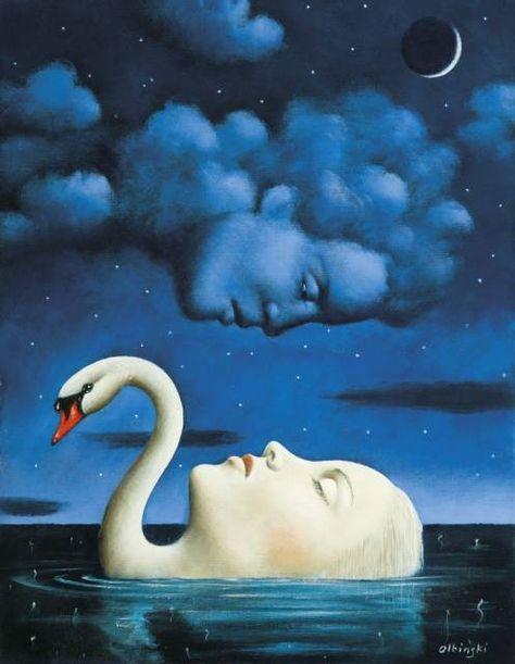 La donna del lago III by Rafał Olbiński
