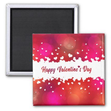 Lovely Happy Valentine\'s Day Hearts - Magnet - valentines day ...