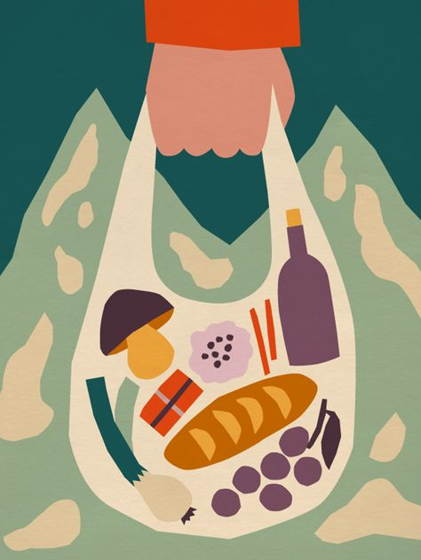 It's Nice That   More cut out-like editorial illustrations from Anna Kövecses