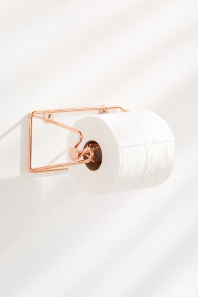 Minimal Rose Gold Toilet Paper Holder With Images Rose Gold Accessories Gold Bathroom Accessories Gold Bathroom Decor