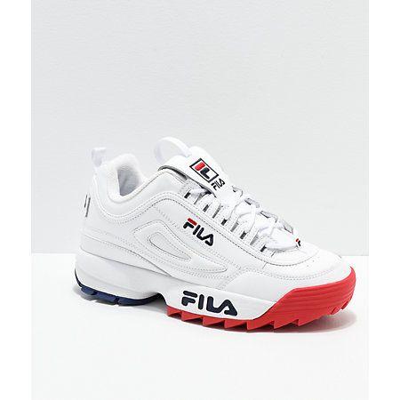 FILA Disruptor II Premium White, Red