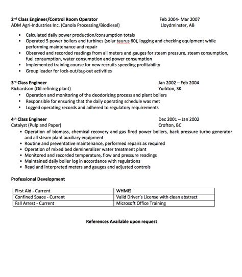 Power Engineer Resume Sample - http\/\/resumesdesign\/power - boiler engineer sample resume