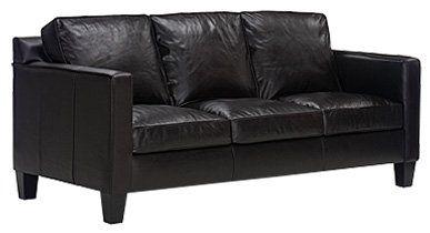 Alex Designer Style Modern Apartment Size Leather Sofa European