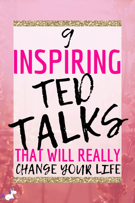 Inspirational TED talks that will help you to feel better when you're having a rough day! These TED talks will help you no matter what you're struggles are.