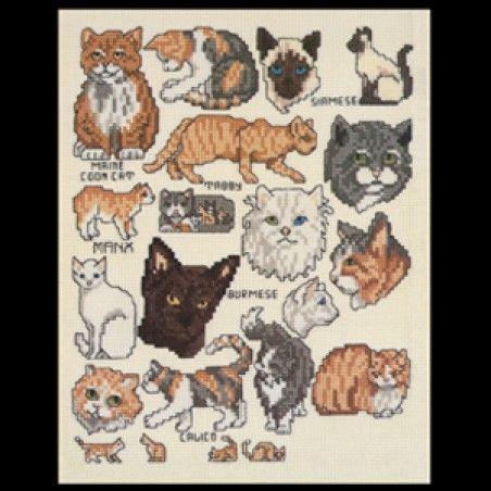 More Cats! Cross Stitch ePattern