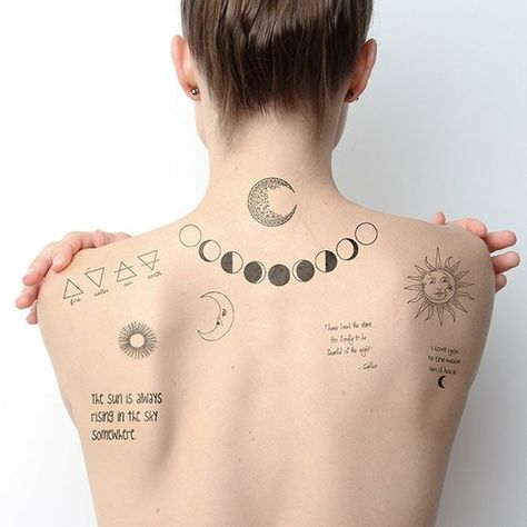 Night & Day Temporary Tattoo Pack (Set of 18)