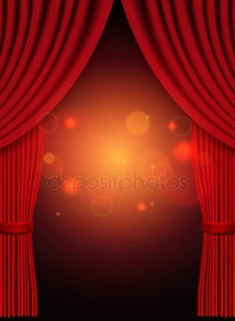 Background With Red Theatre Curtain Stock Vector Ad Theatre