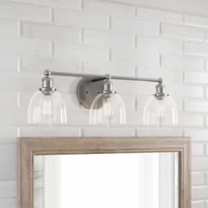 Home Decorators Collection Evelyn 3 Light Brushed Nickel Vanity Light Hb2586 35 The Home Depot In 2020 Vanity Lighting Nickel Light Fixtures Vanity Light Fixtures