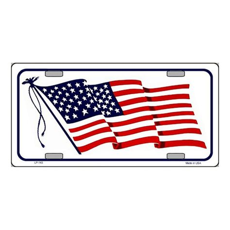 MONTSERRAT FLAG METAL NOVELTY LICENSE PLATE TAG FOR CARS