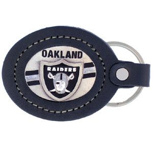 Large Leather Key Chain Oakland Raiders Leather Keychain Oakland Raiders Raiders