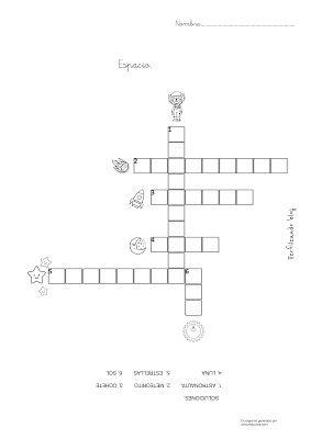 Perfileando Crucigramas Y Sopa De Letras Sobre El Espacio Crucigramas Sopa De Letras Letras