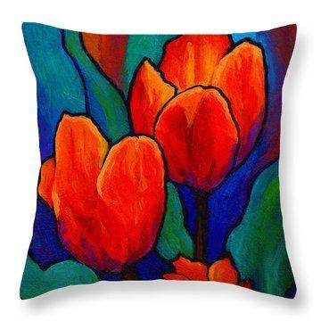 Tulip Trio Throw Pillow
