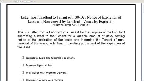 how write termination notice letter template poor performance - 30 days notice letter to landlord