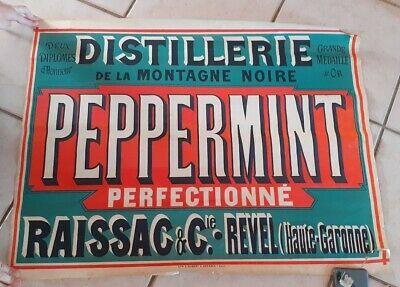 Les Meilleures Offres Pour Affiche Ancienne Peppermint Distillerie De La Montagne Noire Raissac Sont Sur Ebay C En 2020 Affiches Anciennes Affiche Historique Affiche