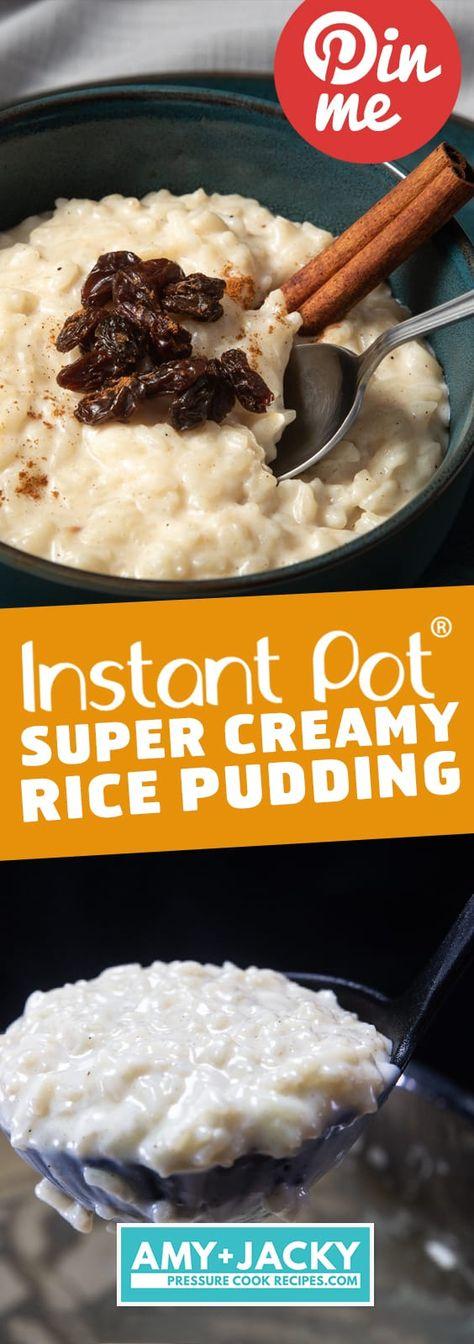 Make Super Creamy Rich Instant Pot Rice Pudding in Pressure Cooker! Your family … Make Super Creamy Rich Instant Pot Rice Pudding in Pressure Cooker! Your family will love this Deliciously Easy Rice Pudding – luxurious comforting dessert. Instant Pot Rice Pudding Recipe, Easy Rice Pudding, Rice Pudding Recipes, Instant Pudding, Rice Puddings, Sweet Rice Recipe Easy, Crockpot Rice Pudding, Rice Cooker Rice Pudding, Pudding Desserts