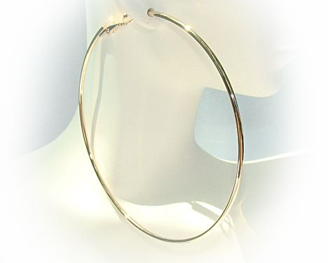 Extra Large Gold Tone Hoop Earrings 3 1 2 Inch With Snap Clip Closure Freeshipping Jewelry Deal Hiphopjewelry