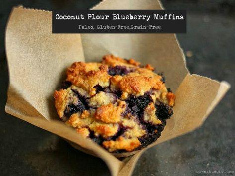 Coconut Flour Blueberry Muffins {Paleo, Gluten-Free, Grain-Free}