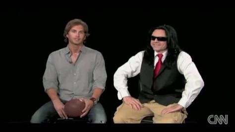 Tommy Wiseau and Greg Sestero Exclusive Interview part one https://www.youtube.com/watch?v=HmzxY1ajz-U