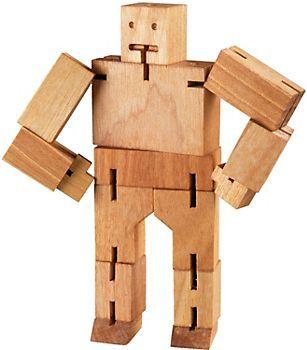 Cubeot Wooden Robot Arte En Madera Juguetes De Madera De Madera