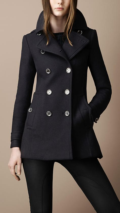 Burberry - Back pleat military coat . I will be needing a new coat this year. I'm thinking purple though.