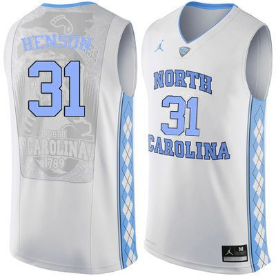 timeless design 15ba1 8fa8e Men North Carolina Tar Heels #31 John Henson College ...