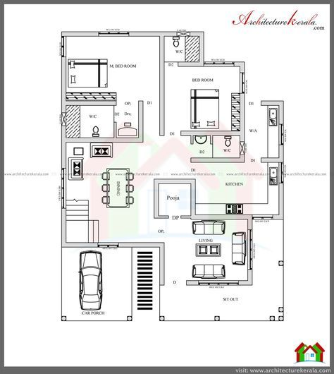 Http Www Architecturekerala Com Minecraft House Plans Unique House Plans House Floor Plans
