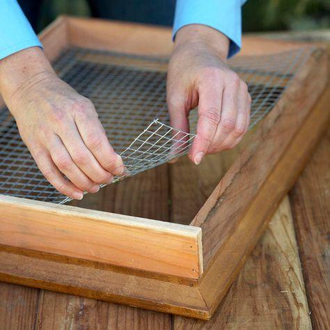 Step 4: Set Hardware Cloth Inside the Frame