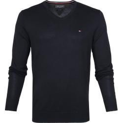 Fall Fashion For Men Herbstmode Fur Herren Tommy Hilfiger Pullover V Neck Dark Blue Tommy Hilfigertommy H In 2020 Tommy Hilfiger Long Sleeve Tshirt Men Autumn Fashion