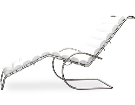 Mr Adjustable Chaise Lounge (Tubular Steel Frame, Cowhide) Design