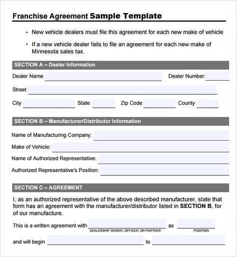 Franchise Agreement Template Sample Template  Microsoft Office