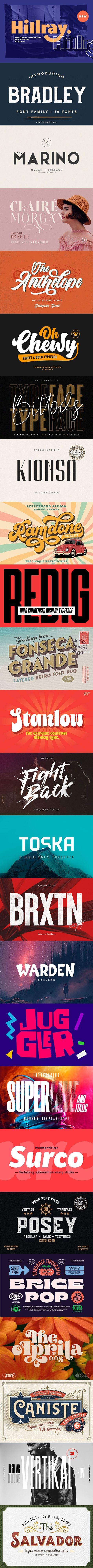 25 Stunning Bold Display Fonts