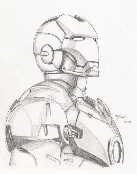 Iron Man sketch by TyndallsQuest.deviantart.com on @DeviantArt