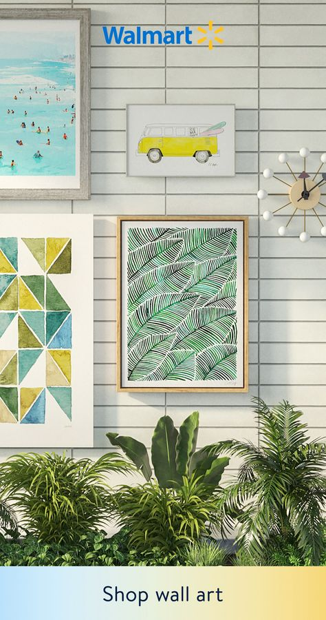 Stylish summer wall art