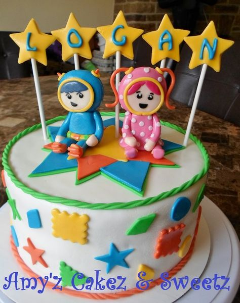 Team Umizoomi cake! Noah would love this!