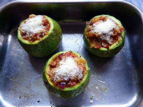 Eat Drink Play London: Stuffed Round Courgettes