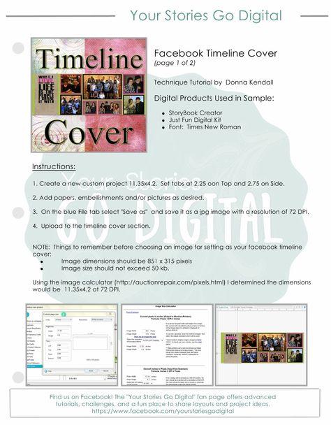 Facebook Timeline Coverpdf Story Book Creator\/Artisan Pinterest - sample facebook timeline