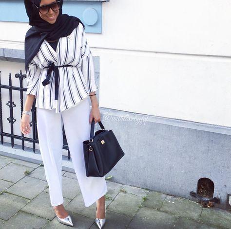 Turban hijab /à enfiler bonnet crois/é pour femme musulmane voil/ée