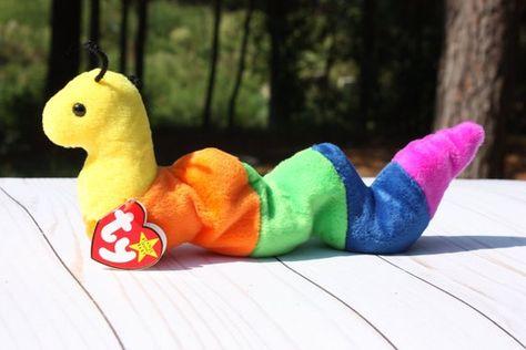 Retired Beanie Baby Inch Rainbow Caterpillar Plush Ty Inch