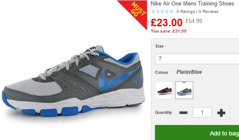LIMITED SIZES Nike Air One Training Shoes NOW from £23.99 + £3.99 postage  at Sports Direct e96e25b42